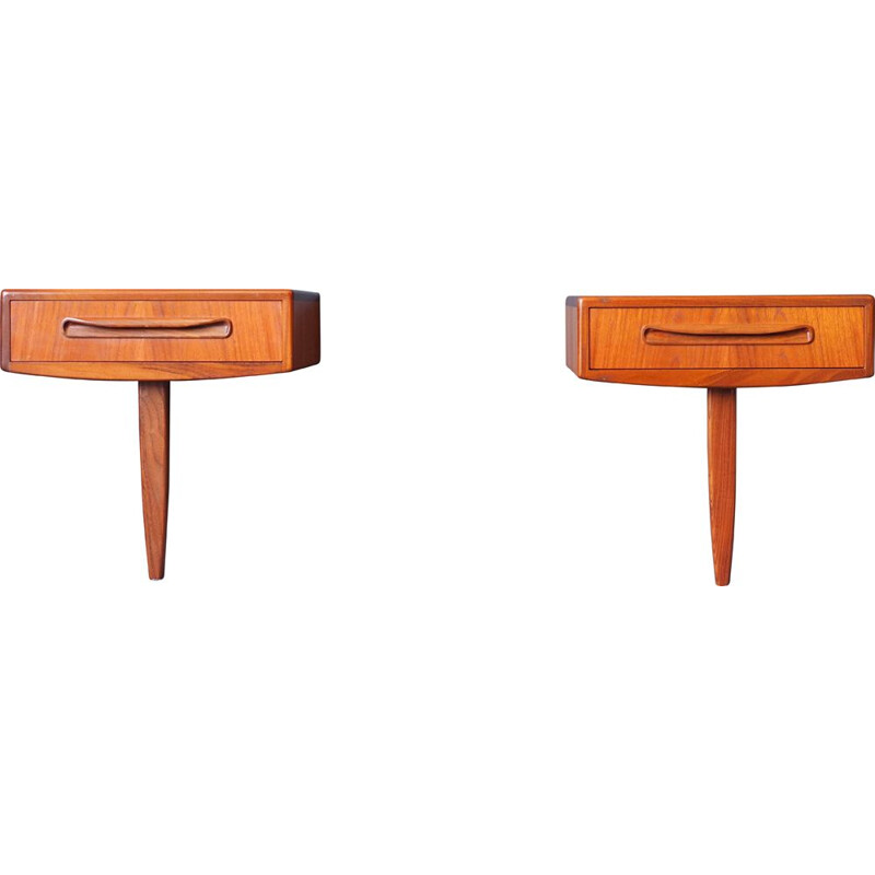 Mid Century Pair of Beside Tables in Teak G Plan Fresco