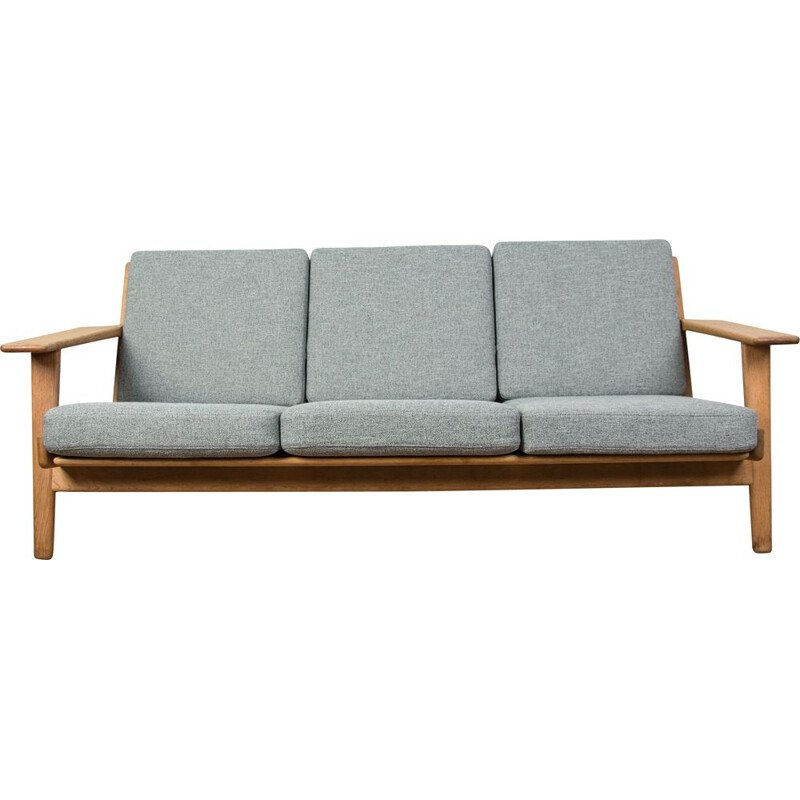 Sofa in oak and fabric, model GE 290 by Hans Wegner for Getama, Danish 1953