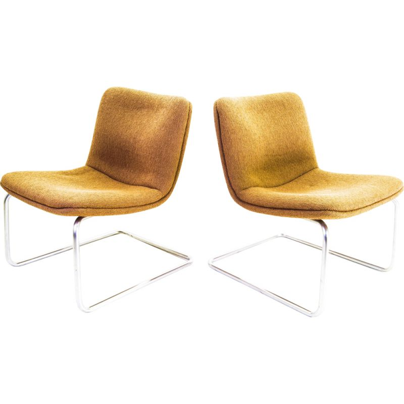 Pair of Vintage Gispen Cantilever Arcus Chair 1988