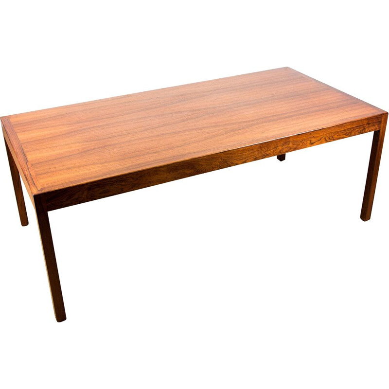 Large Vintage coffee table in Rio Rosewood by Hans Wegner for Andreas Tuck Danish 1960