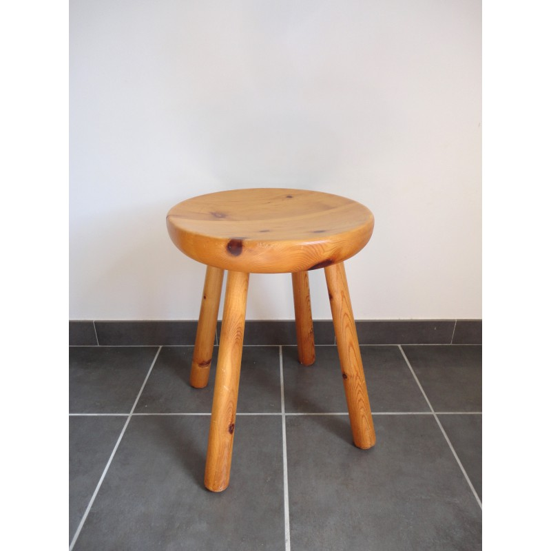 Superb Scandinavian Stool In Pine Wood With Four Legs 1970S Pdpeps Interior Chair Design Pdpepsorg