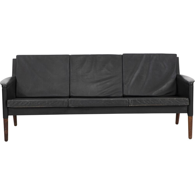 Vintage 3 seater sofa with legs of rosewood Kurt Østervig