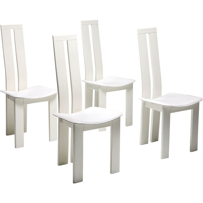 Set of 4 Vintage Dining Chairs Pietro Costantini 1980s