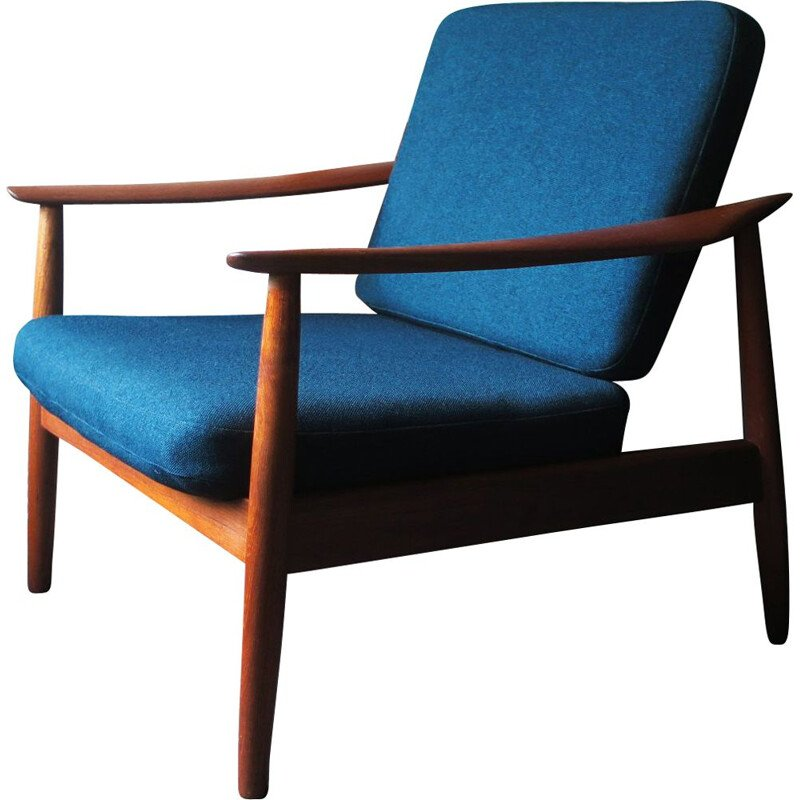 Vintage Teak Lounge Chair Arne Vodder Danish 1960s