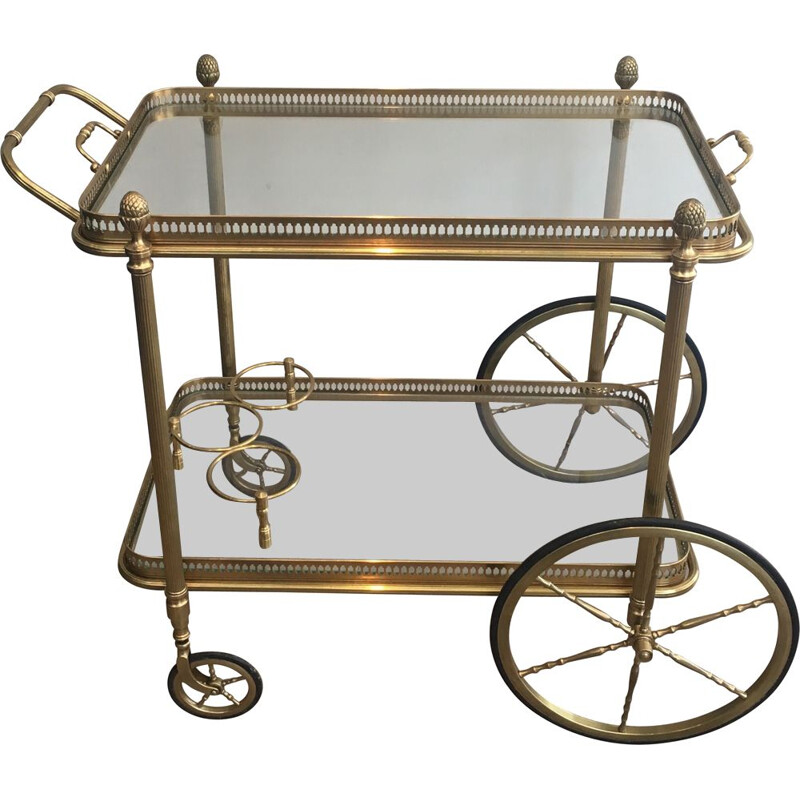 Vintage Brass Rolling Table 1940