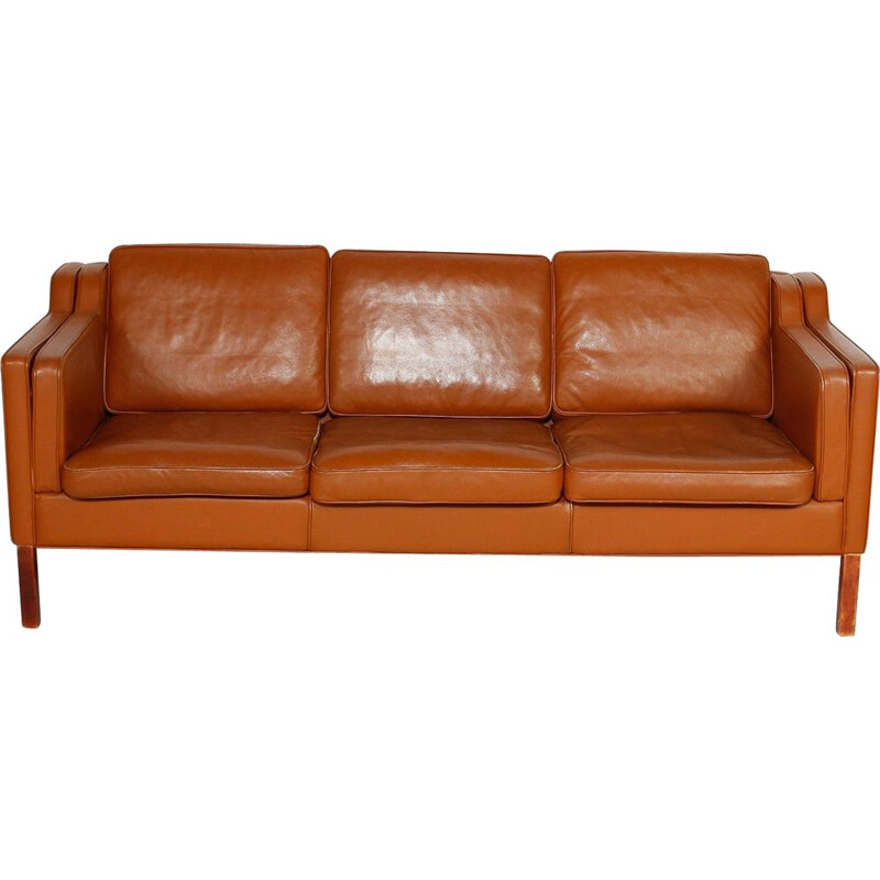 Vintage leather sofa Scandinavian
