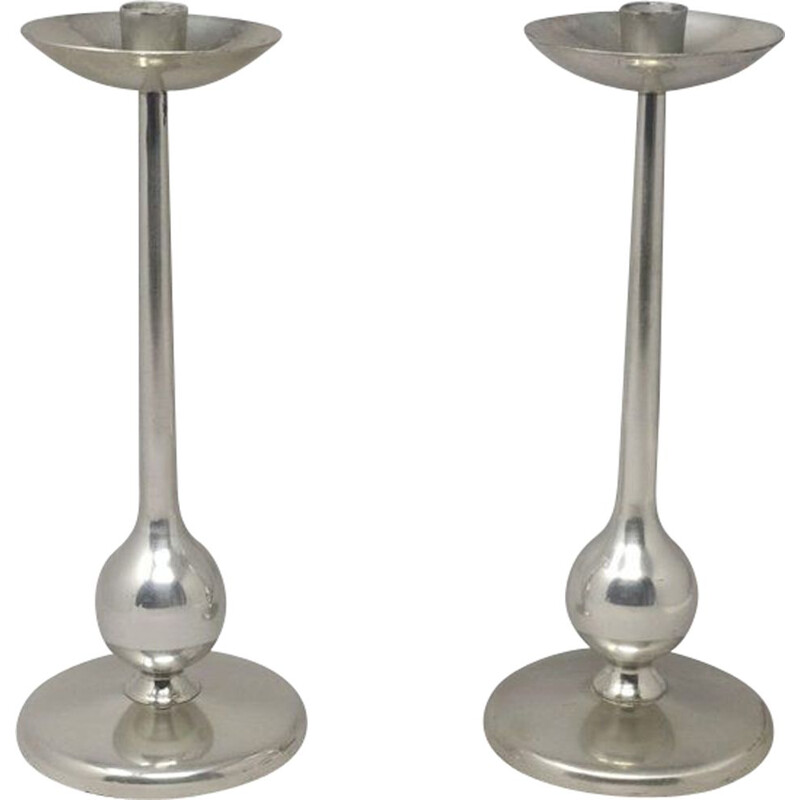 Pair of vintage Candleholders,Space Age 1960s