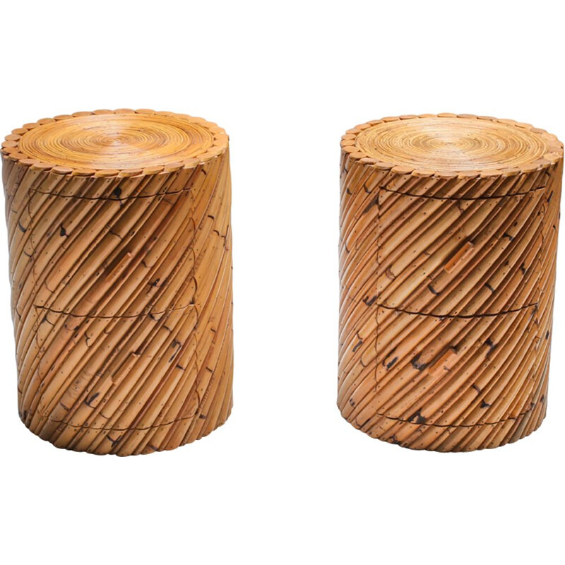 Pair of Vintage Vivai del Sud pair of side tables 1970s