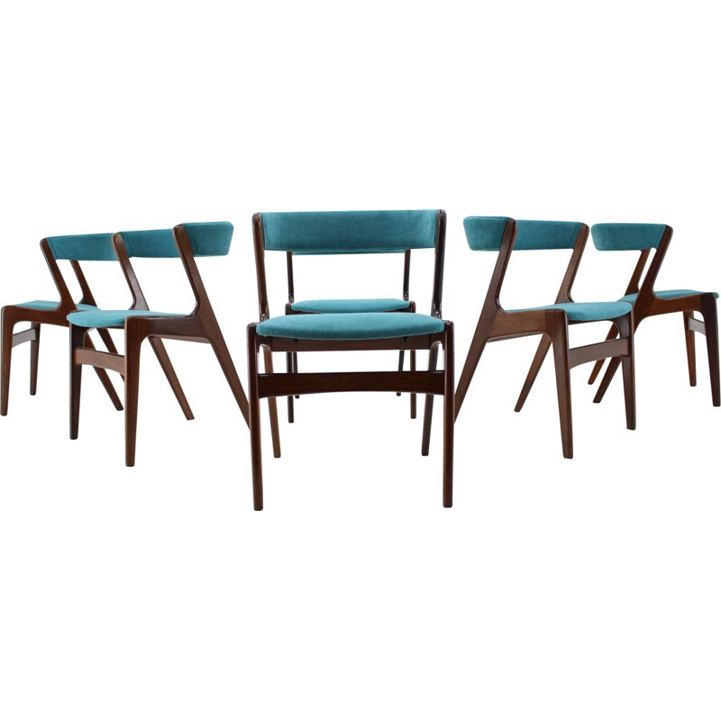 Set of 6 Vintage Kai Kristiansen Teak Dining Chairs, 1960s
