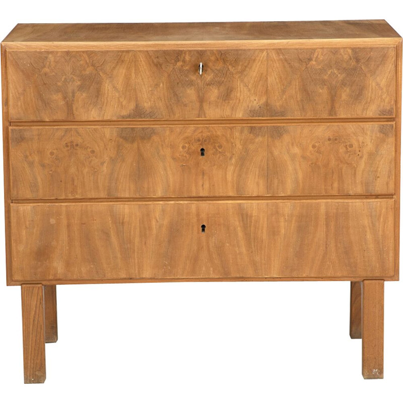 Vintage Danish furnitrure Chest of drawers of elm
