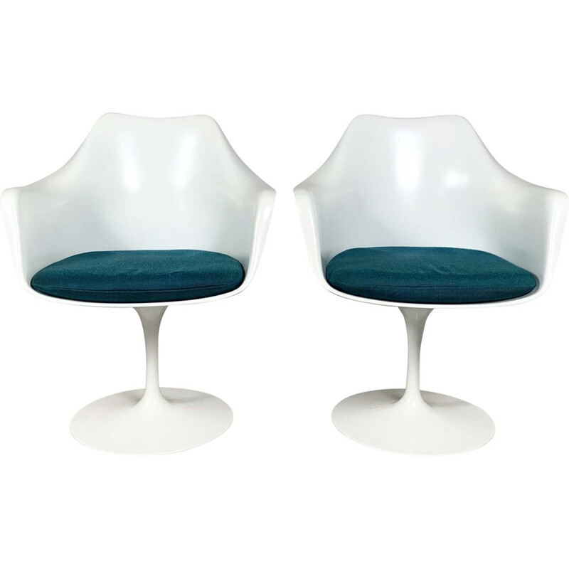 Pair of vintage Tulip Armchairs by Eero Saarinen for Knoll, 1970s