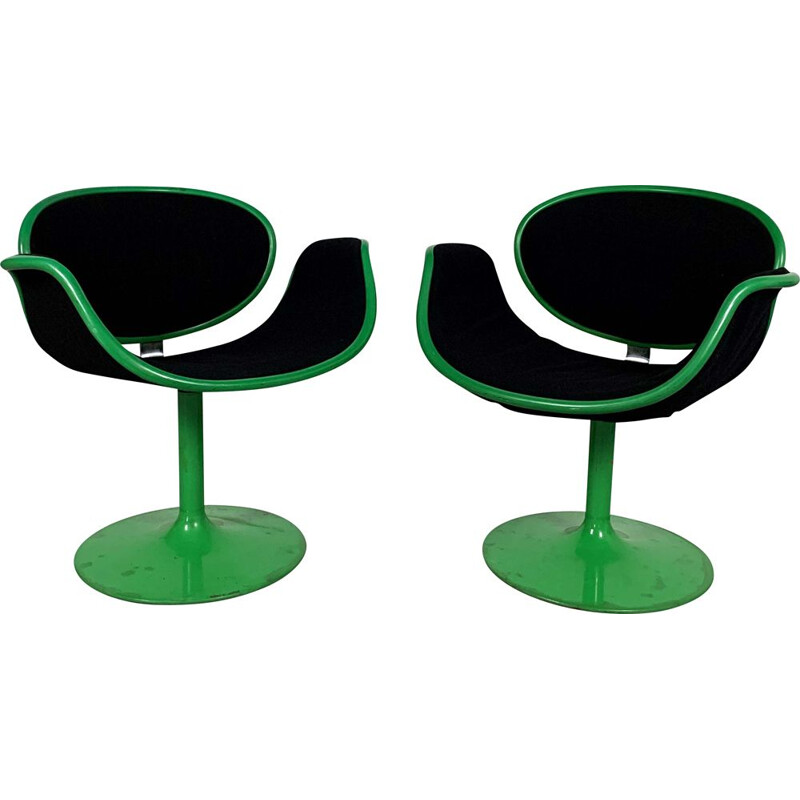 Pair of vintage Little Tulip Chairs 1st Edition by Pierre Paulin for Artifort, 1960s
