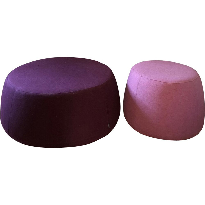 "Pair of vintage ""Denny"" pouffes by Alf Da Frè"
