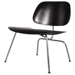 Herman Miller low easy chair in chrome and plywood, Charles & Ray EAMES - 1950s