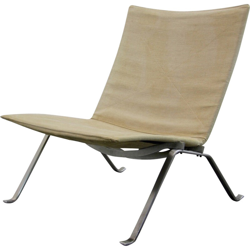 "Fritz Hansen ""PK22"" chair in white, Poul KJAERHOLM - 1960s"