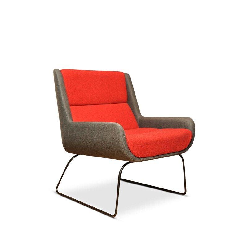 Red and Grey Hush Chair from Naughtone x Herman Miller, 2006