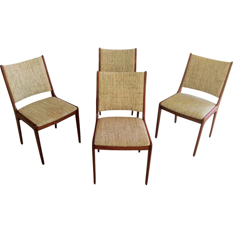 Set of 4 vintage Teak Dining Chairs,Johannes Andersen  Inc. Reupholstery