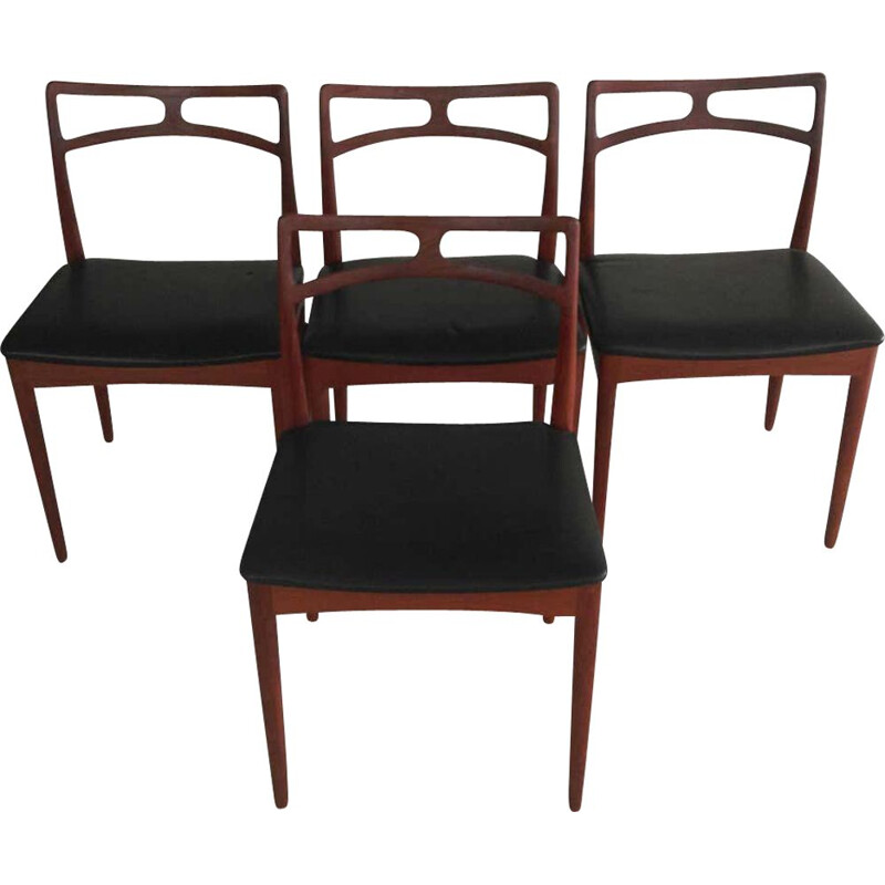 Set of 4 vintage Dining Chairs in Teak, Inc. Johannes Andersen Danish