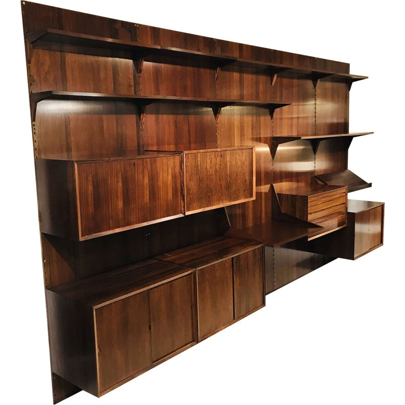 Vintage bookcase by Poul Cadovius Royal System in Rosewood for Cado, Denmark 1960s