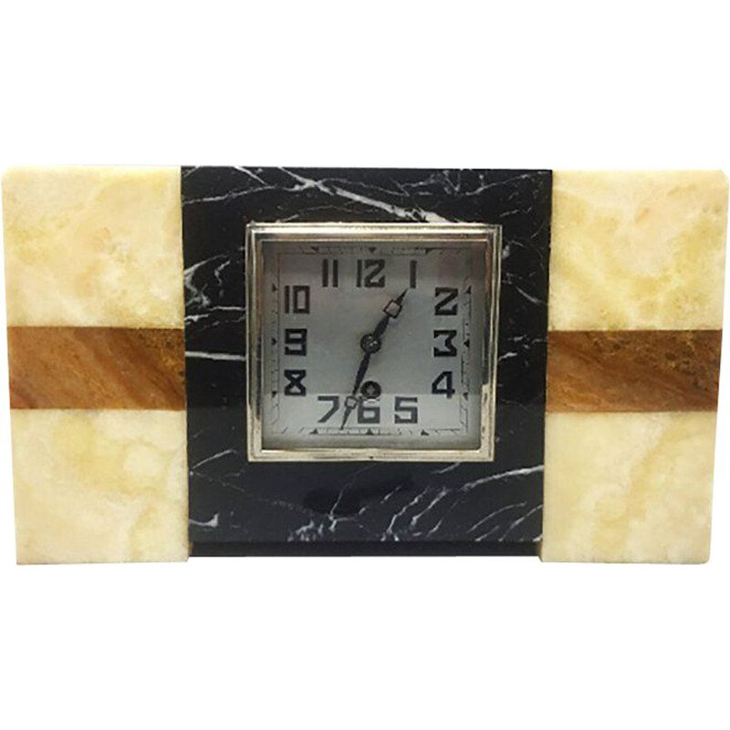 Vintage  Marble Clock from Manufrance,Art Deco French 1930s