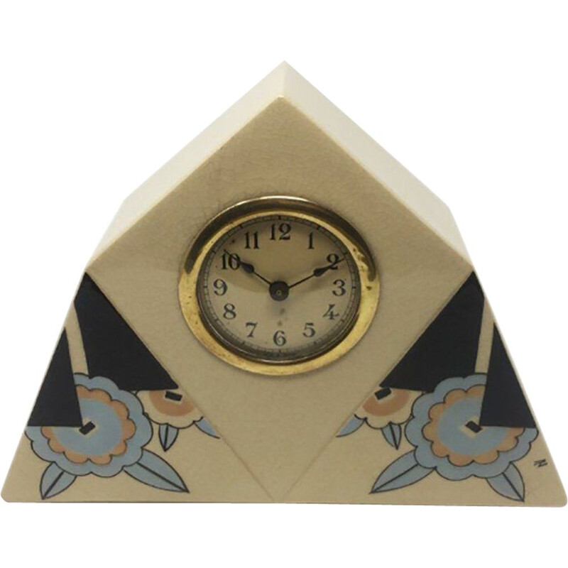 Vintage Ceramic Table Clock,Art Deco French 1930s