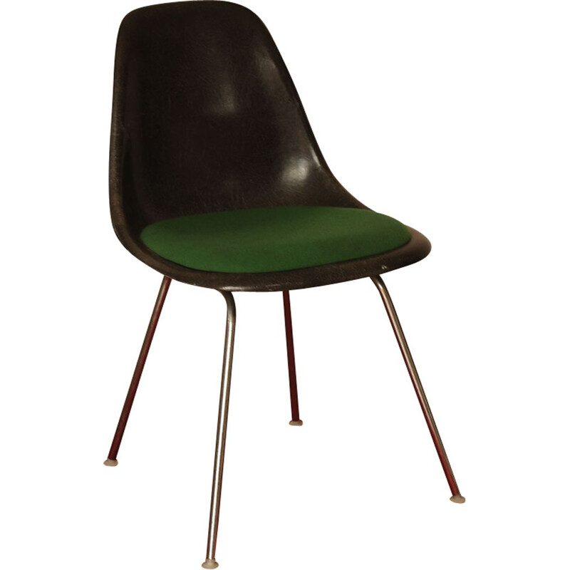 DSS Fibreglass Chrome Stacking Chair by Charles & Ray Eames for Herman Miller