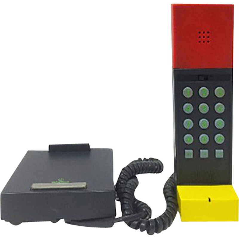 Vintage plastic Phone by Ettore Sottsass, 1986