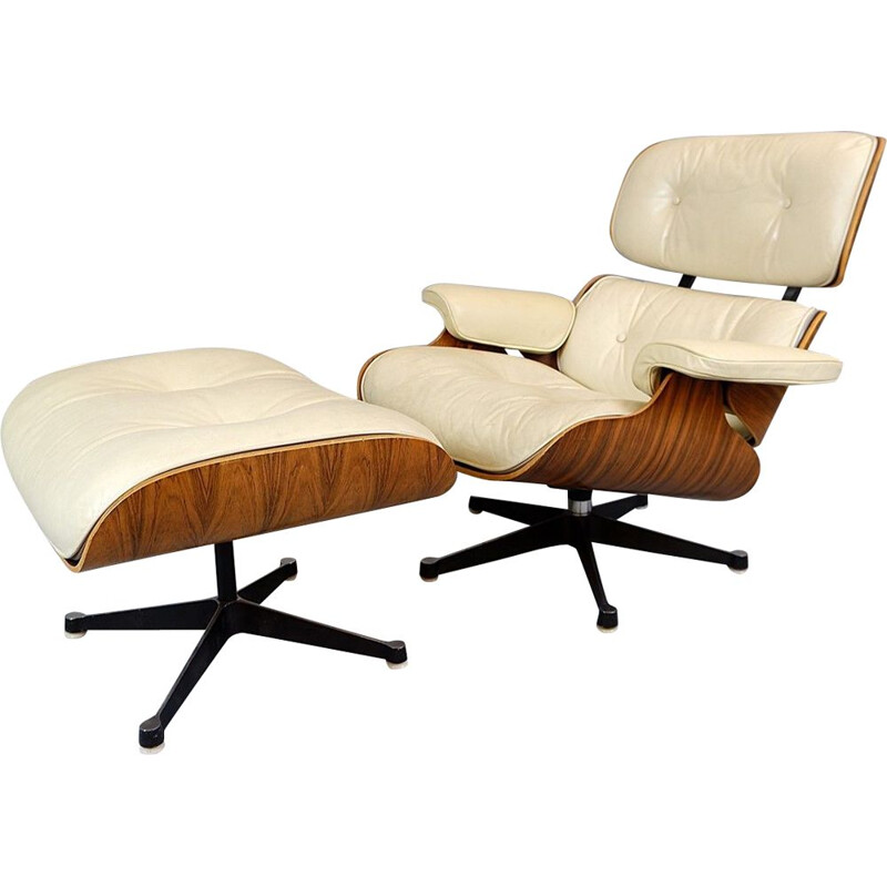 Vintage armchair Charles Et Ray Eames & Ottoman Mobilier International Edition