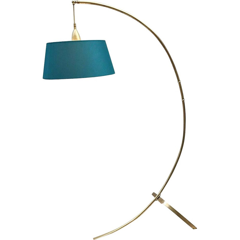 Vintage Arc en Laiton floor lamp by J. T. Kalmar for Kalmar, 1950