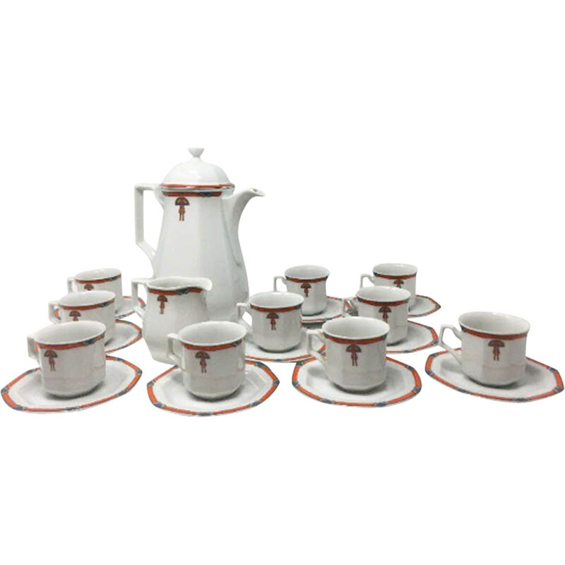 Set of 12 Vintage white coffee and tea set Numero di riferimento del venditore Art Deco 1930