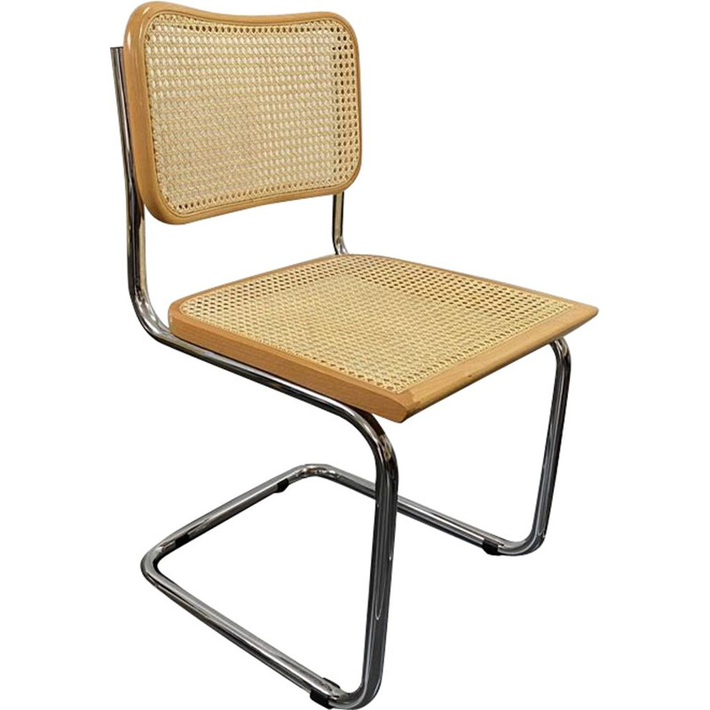 Vintage chair or seat without armrests Cesca B32 Marcel Breuer 1970