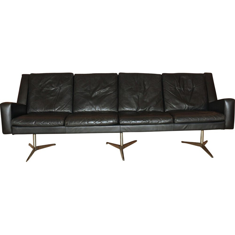 Mid-Century Leather Sofa from Skjold Sørensen, Danish 1960s