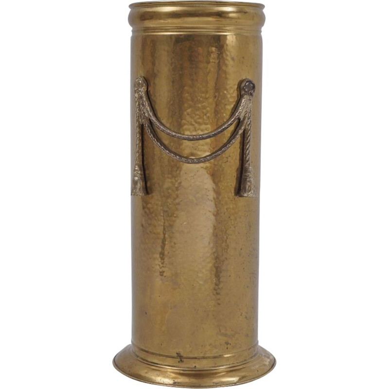 Vintage brass umbrella stand by Peerage, English 1930s