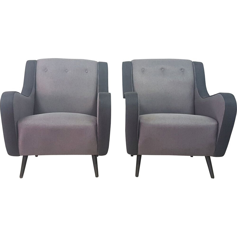 Pair of  mid century armchairs, 1950s