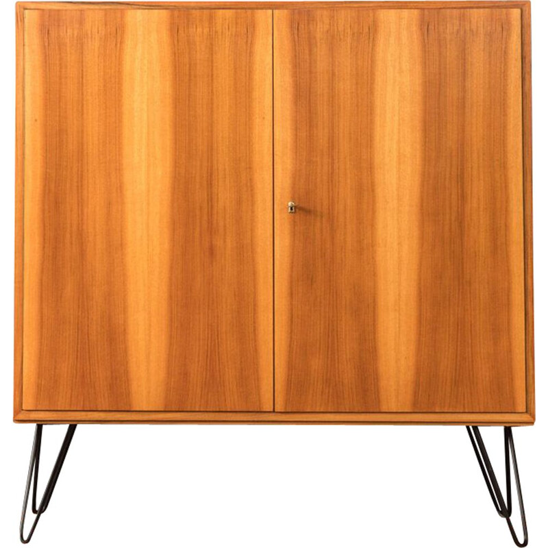 Vintage walnut veneer chest of drawers 1960