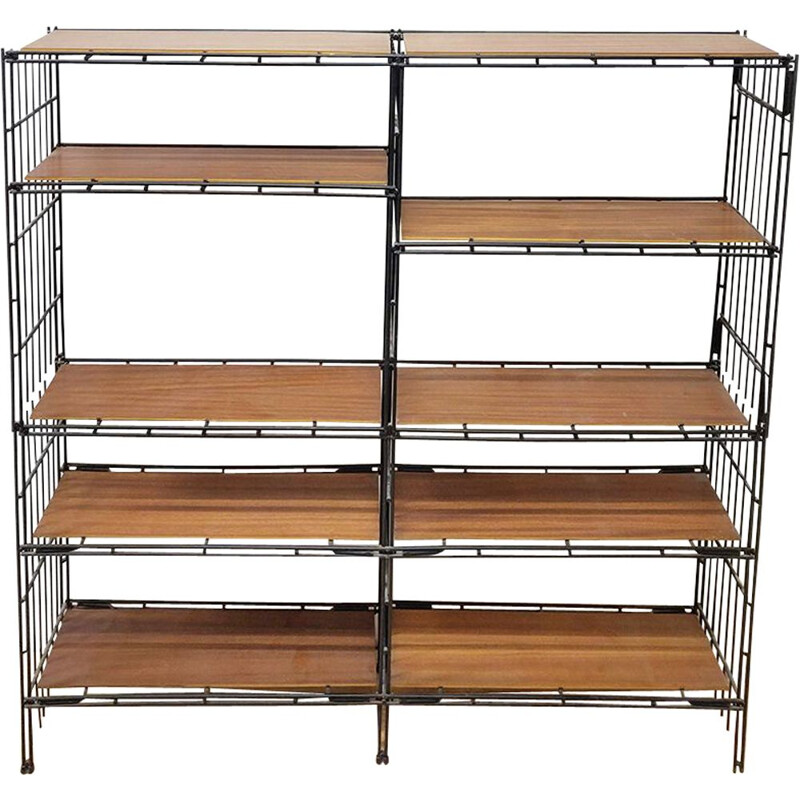 Vintage Multistrux Iron Modular Shelving Unit by Multimueble, Spain, 1960s