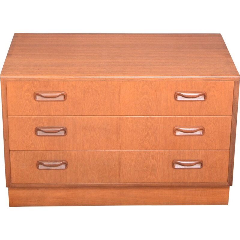 Vintage Teak G Plan Fresco TV Cabinet Chest Of Drawers Viktor Wilkins 1960s