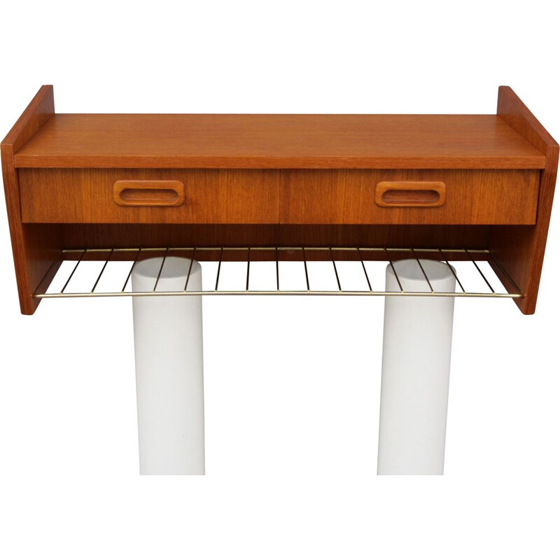 Vintage teak wall shelf Scandinavian