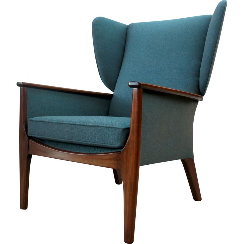 Vintage Teak Wingback Armchair from Parker Knoll, 1960s
