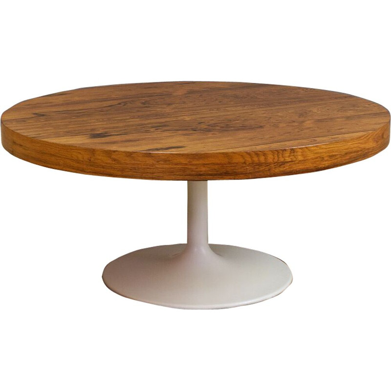 Vintage Solid Rosewood round coffee table American 1960s