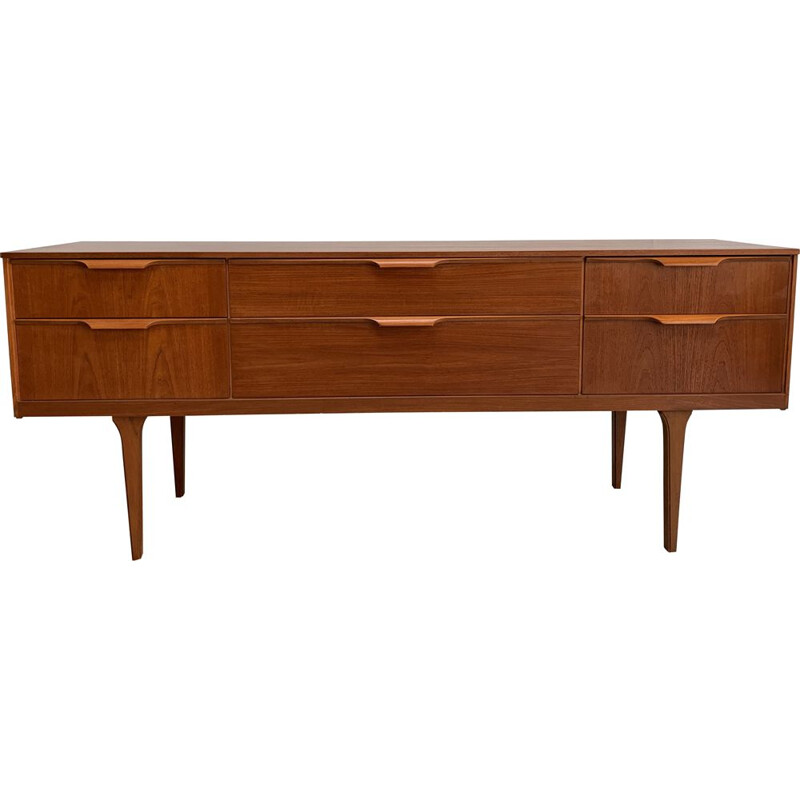 Vintage Austinsuite sideboard with 6 drawers 1960s