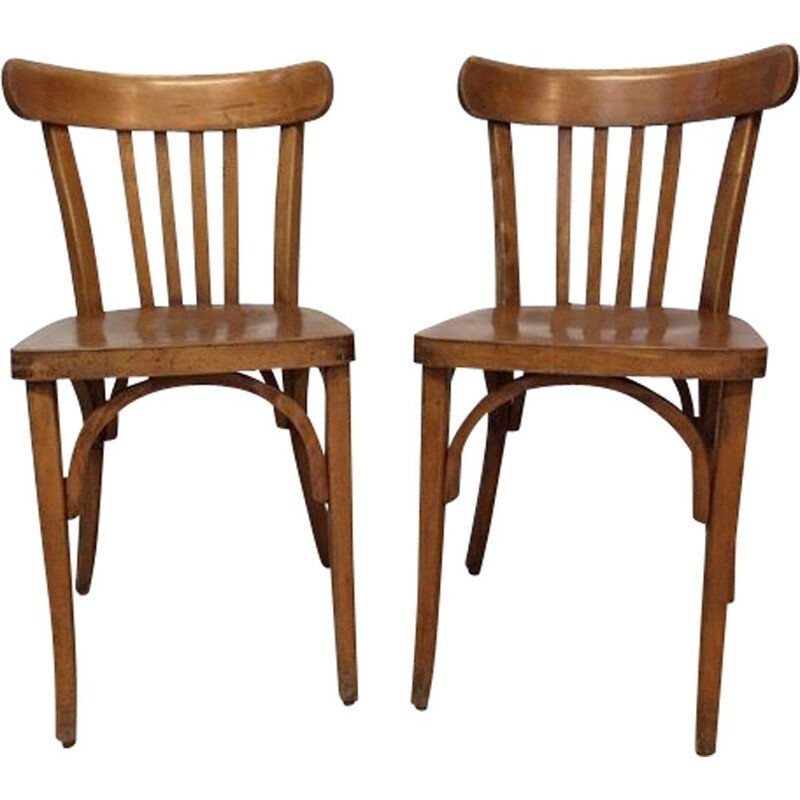 Pair of vintage Luterma 1950 bistro chairs