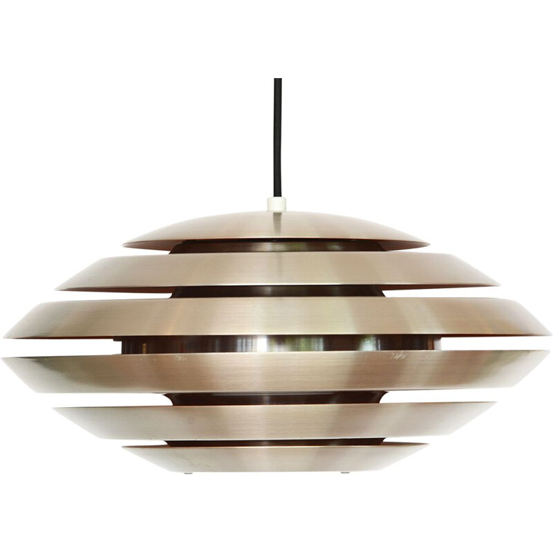 Vintage pendant light Layered aluminum from Jeka Metaltryk. Denmark 1960s