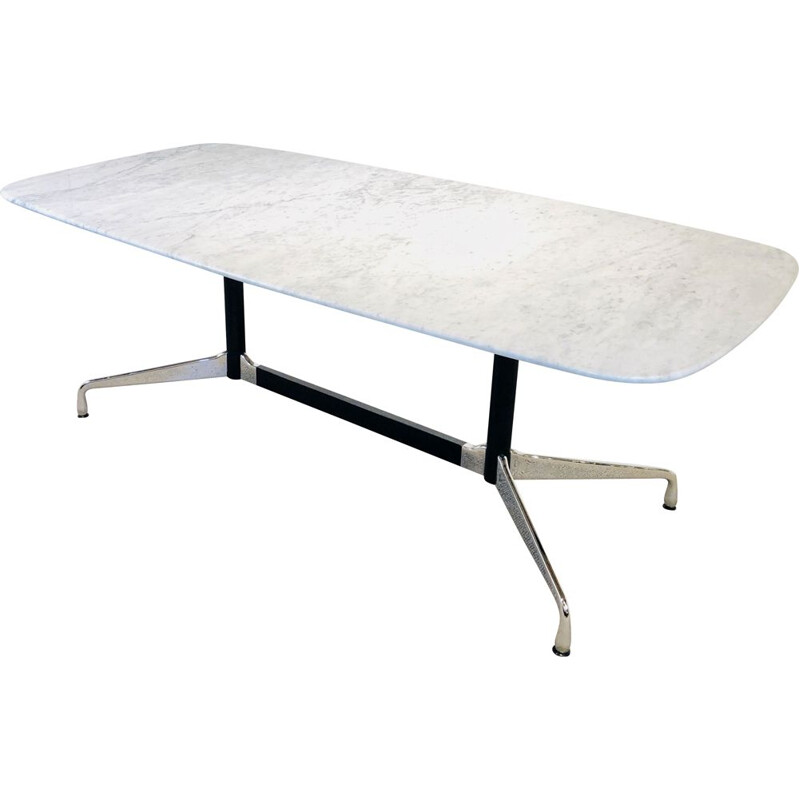 Vintage segmented marble dining table, Eames for Vitra