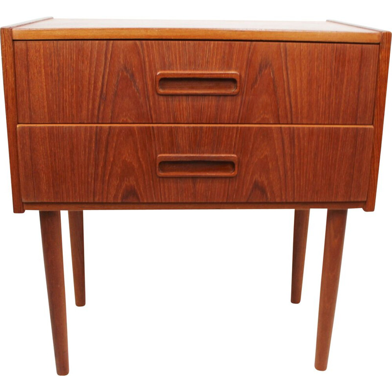 Small vintage chest of drawers in teak of danish 1960s