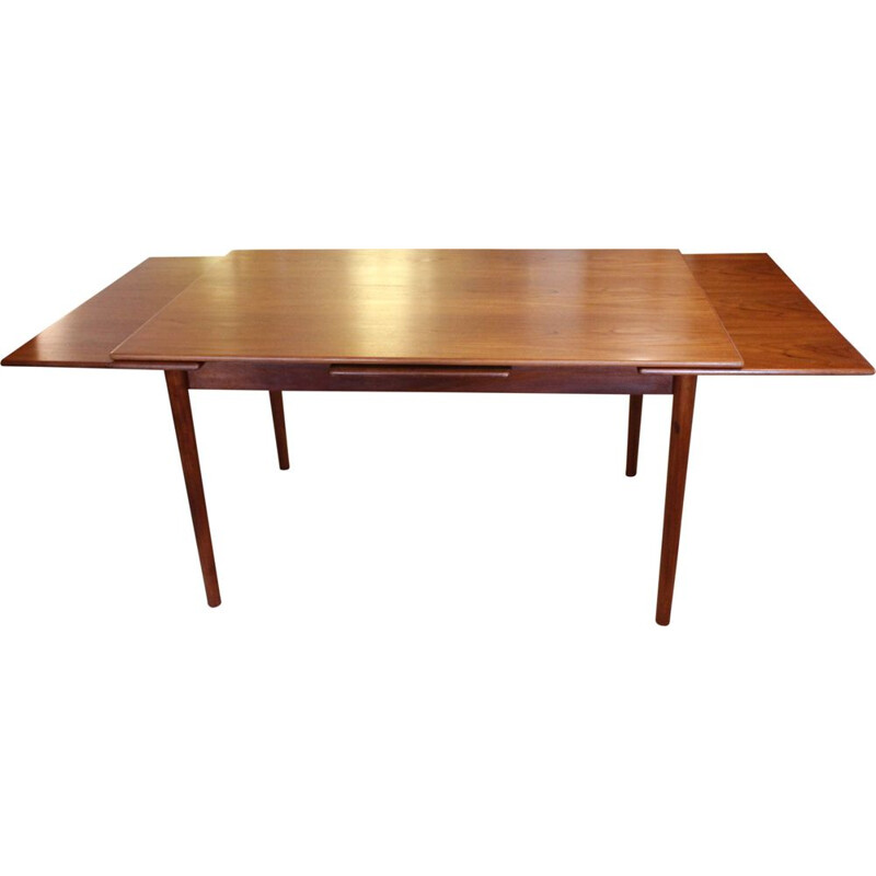 Vintage Dining table with extentions in teak of danish 1960s