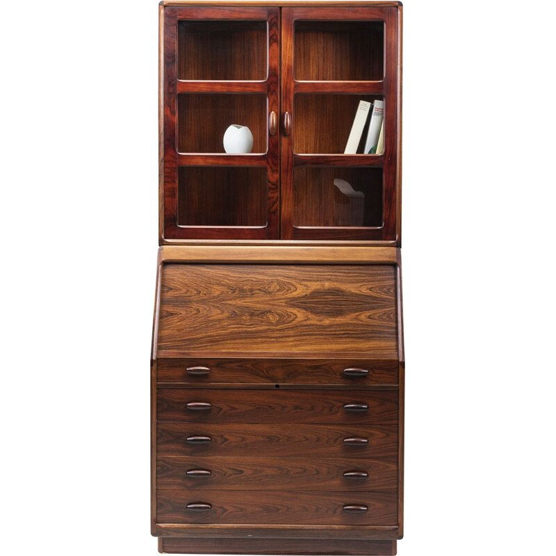 Vintage Secretaire Rosewood with Display Case from Dyrlund, 1960s
