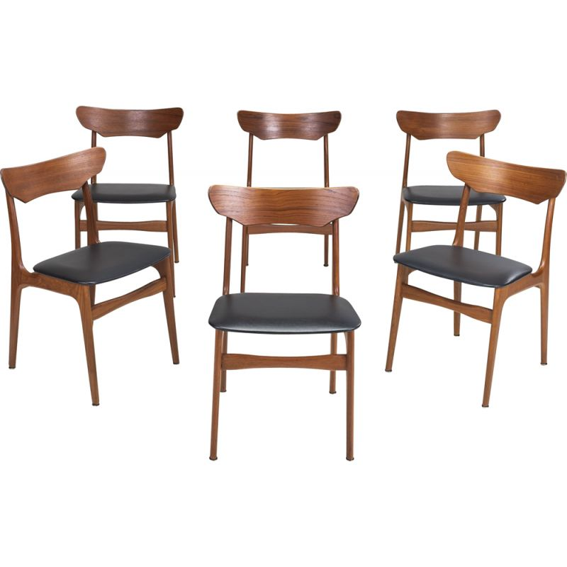 Set of 6 Vintage Dining Chairs by Schiønning & Elgaard for Randers Møbelfabrik, 1960s