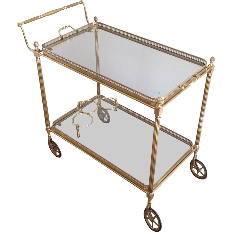 Vintage Rolling Table Neoclassical 1940s