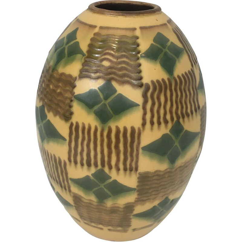 Vintage Art Deco Ceramic Vase 1930